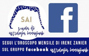 Oroscopo mensile di Irene Zanier, docente della Scuola di Astrologia Immaginale di Torino. Iscriviti al gruppo Facebook e segui il blog www.astrologiaimmaginale.com